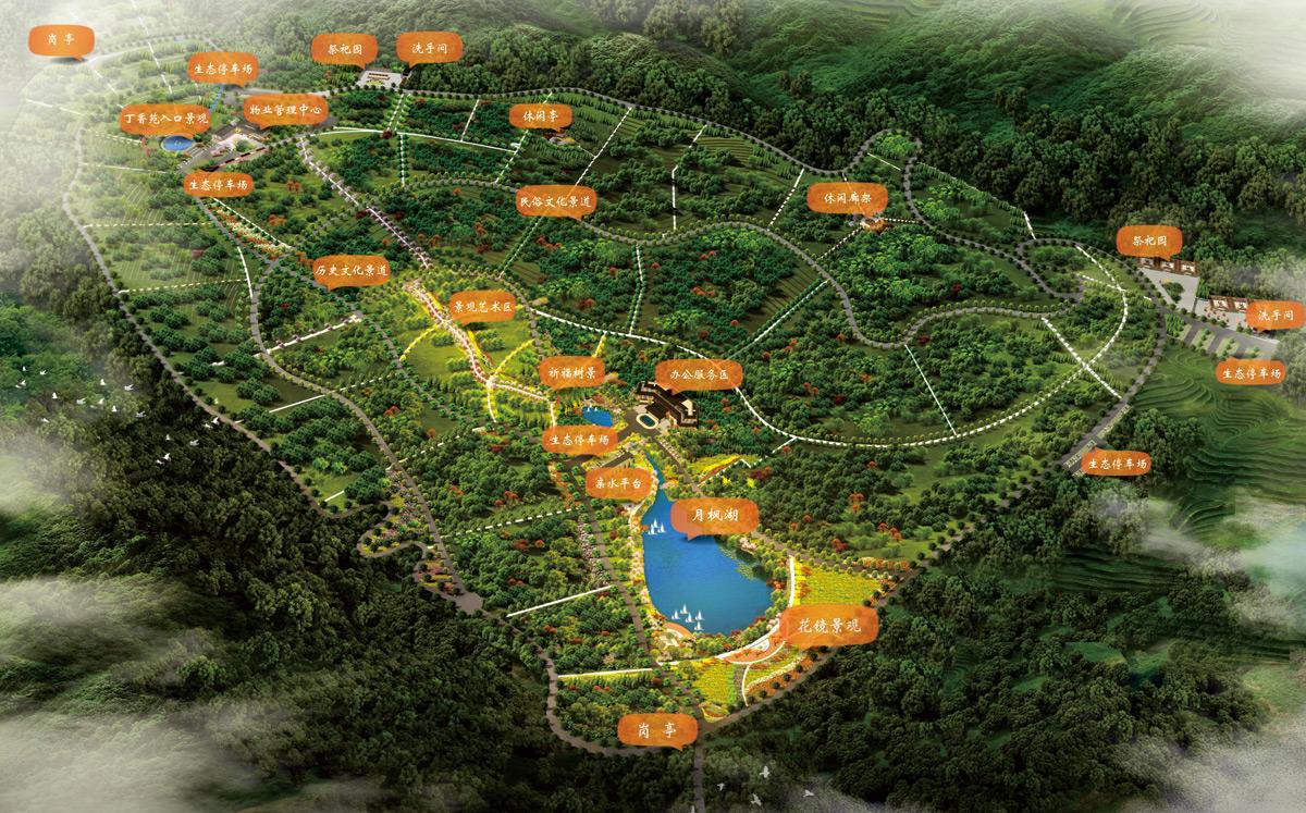 龙抚山墓园规划图